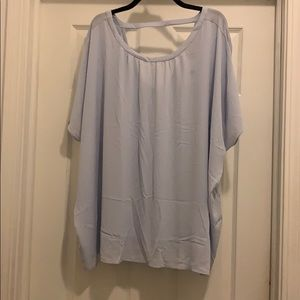 NWT Blue Mixed Media Loft blouse